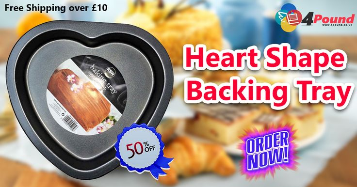 Best Valentine's day Offers On #Kitchen_Products.Buy amazing Heart Shape Backing tray with best discount at #4pound