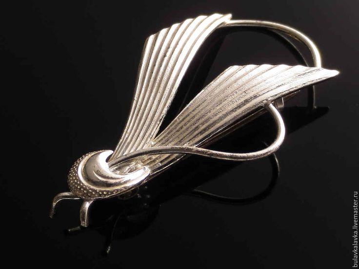 Купить Винтажная серебряная брошь - серебряный, серебряная брошь, серебро 925 пробы, ручная работа