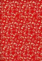Tecido fundo vermelho/folhas