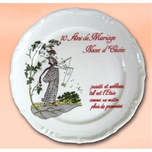 10 Ans De Mariage Noce De Best Of Assiette Anniversaire De