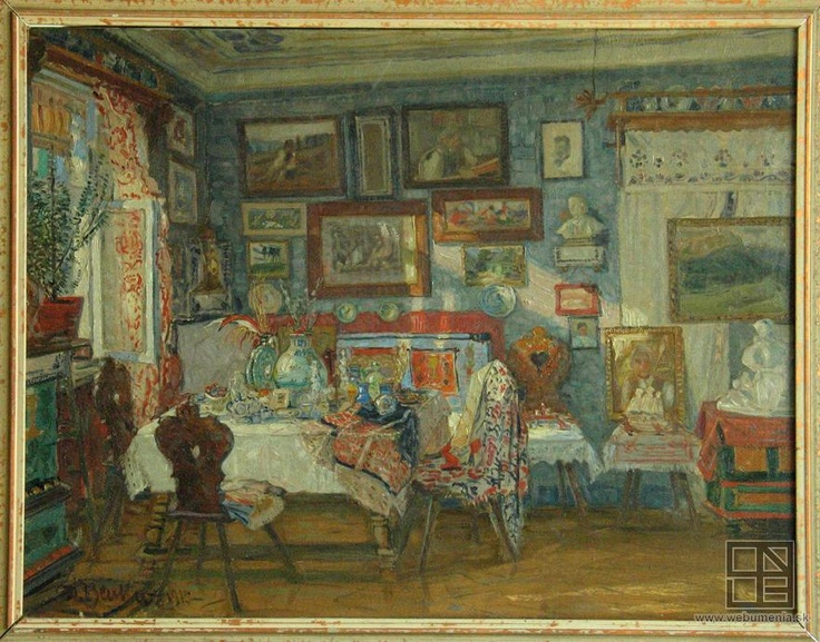 Martin Benka - Pracovňa dr. Alojza Kolíska (1915)  - majetok Liptovskej Galérie Petra Michala Bohúňa