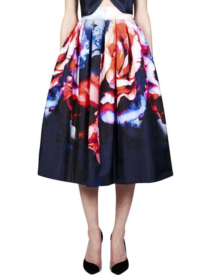 Thermo Floral Pleated Skirt | David Jones
