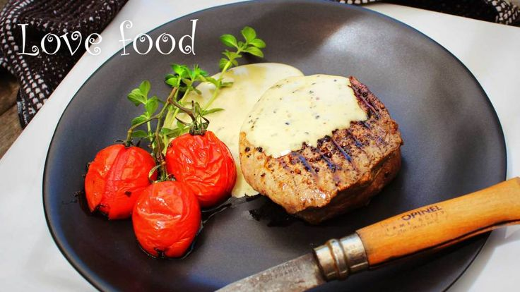 eye fillet steak with blue cheese sauce