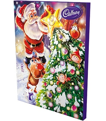 Cadbury's Chocolate Advent Calendar--my Grandma used to get me one of these every year.