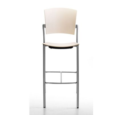 The Eina bar stool with back and armrests  is ideal for the hotel and catering trade. http://www.zenithinteriors.com.au/product/155/eina-stool-