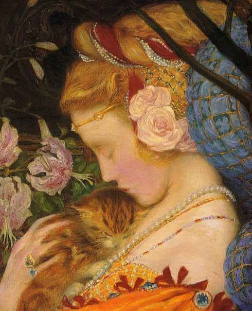 ⊰ Posing with Posies ⊱ paintings of women and flowers - Detail. The Deceitfulness of Riches 1901 by Eleanor Fortescue Brickdale
