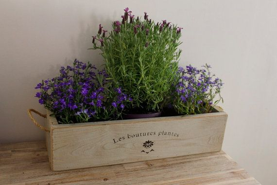 Vintage style trough planter, window planter, planter trough, rustic planter, plant trough, flower trough  Our handcrafted vintage style rustic trough planters are handmade by ourselves in Yorkshire, England. They are crafted from sustainably sourced quality kiln dried timber, sanded by hand, painted or stained for protection and hand finished. They are strong and robust and look lovely on a patio, garden wall or as a window box to add a real rustic touch to your home or garden.  Our trough…