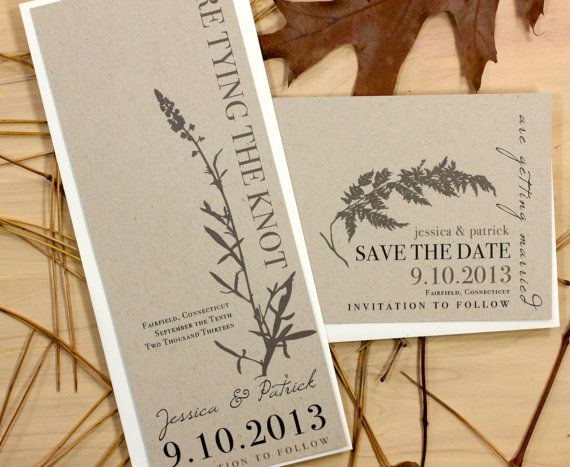 Ivory Romance  Rustic  Chic Save the Dates Elegant by BeaconLane, $100.00