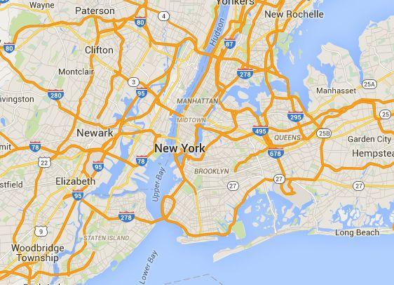 Mappa luoghi, cose, attrazioni principali e posti da vedere New York City e dintorni, gratis e non, la cartina con edifici, impianti sportivi, luoghi di culto, mercati e negozi, monumenti, musei, parchi giardini e natura, quartieri e zone, teatri e cinema, vie piazze ponti, tour di New York City
