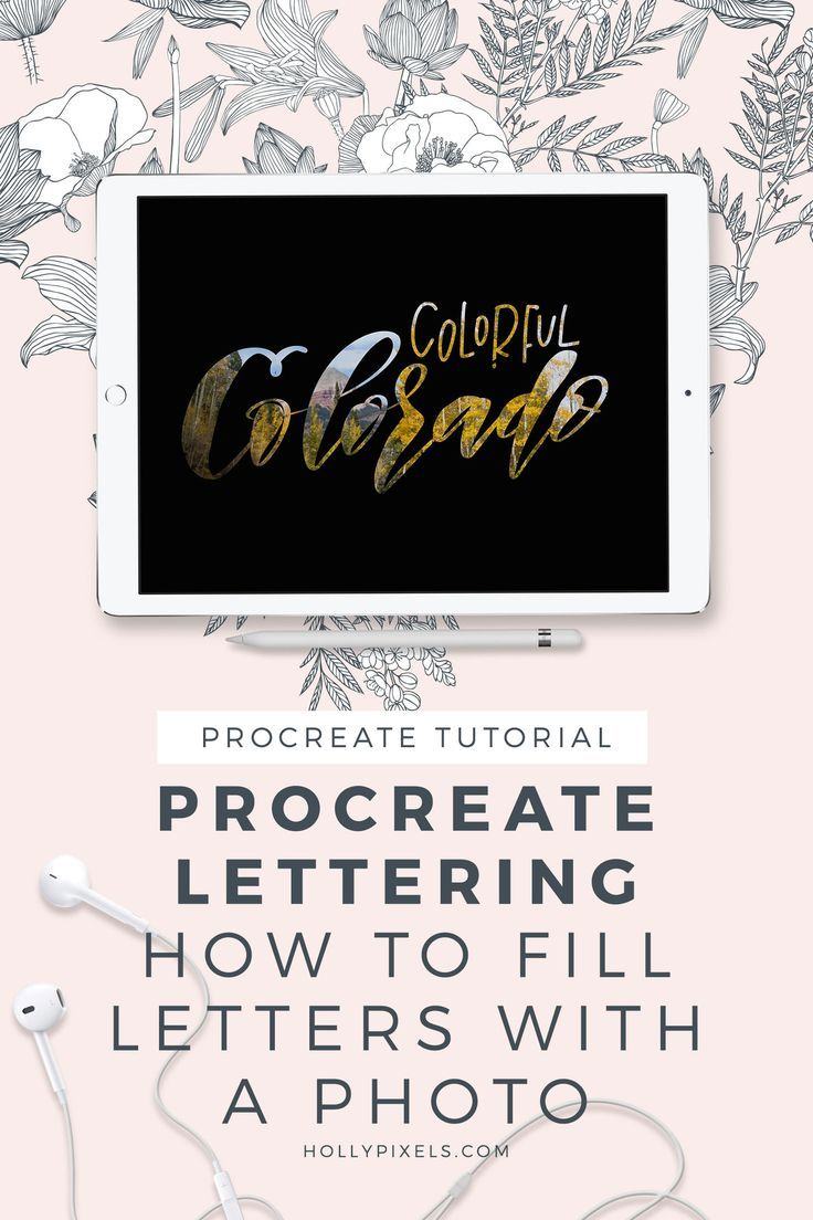 How To Fill Letters With A Photo In Procreate Ipad Lettering Procreate Lettering Lettering Tutorial