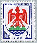 Armoiries de Nice Armoiries des villes de France (Troisième série) - Timbre de 1958