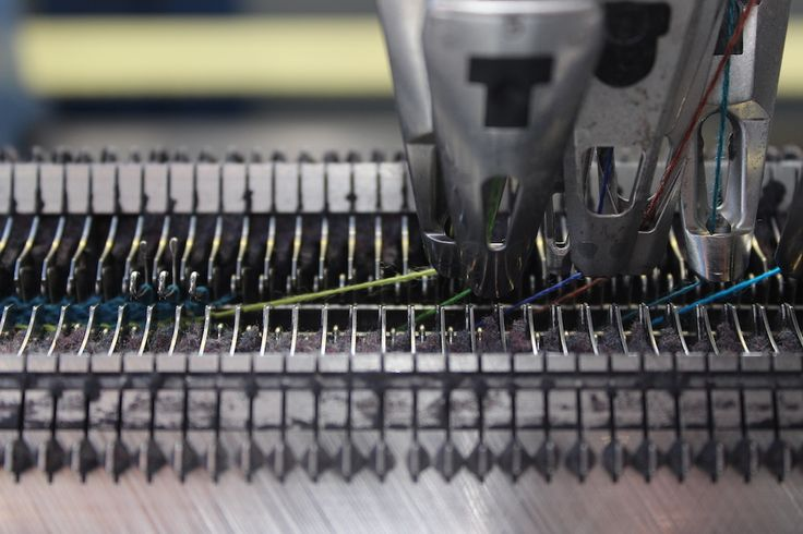 Knitting Machine at work | McKernan Woollen Mills | Handmade scarves | Made in Ireland | Irish Design | Weaving | Knitting Mens & Womens Accessories