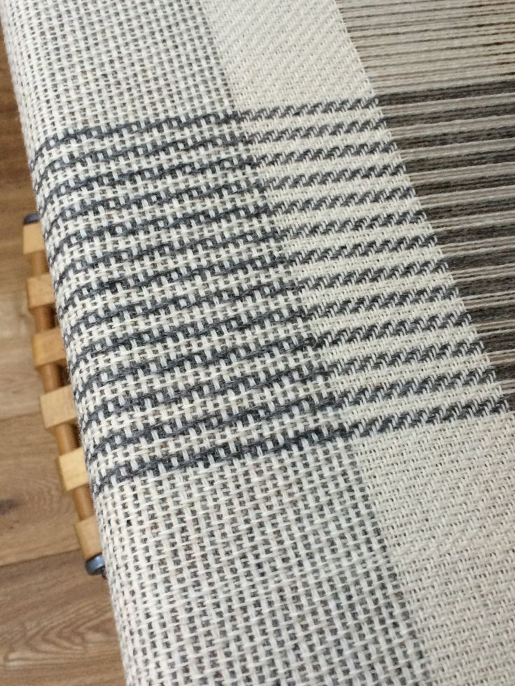 Monochrome Blanket. Very simple 4 shaft patterns, fun to weave: Josephine Andrews awovenfabric@gmail.com