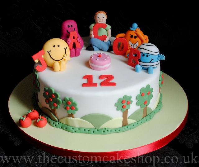 Best Mr Men Birthday Images On Pinterest Girl Birthday - Mr tickle birthday cake