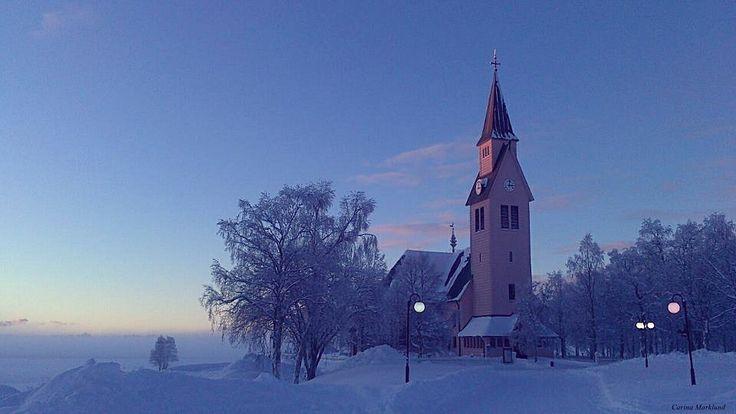 The church in Arjeplog, Sweden