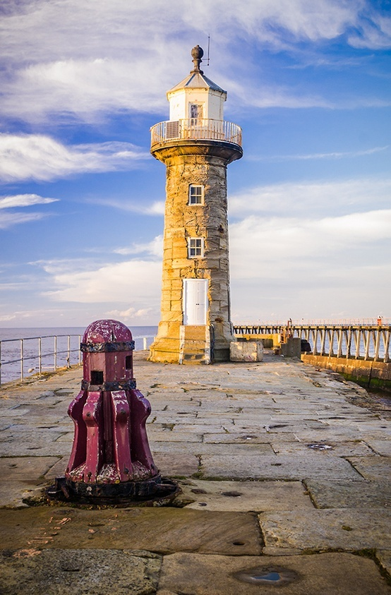 Whitby LighthouseWhitby, beyond Saltwick Bay Yorkshire, England 54.477778, -0.568333