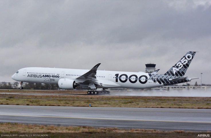 Le troisième Airbus A350-1000 décolle