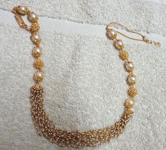 Small Basara Pearls and South Pearls Set - Jewellery Designs