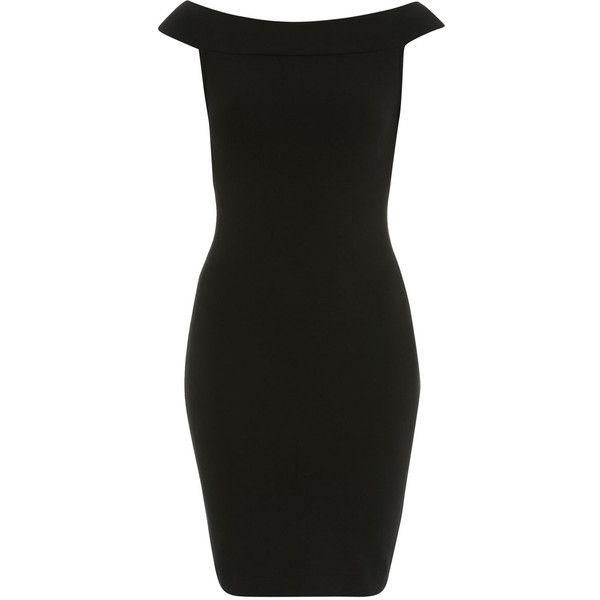 Black Bardot Dress ($26) ❤ liked on Polyvore featuring dresses, black, off shoulder bodycon dress, off shoulder dress, bodycon dress, black bodycon dress and off the shoulder bodycon dress
