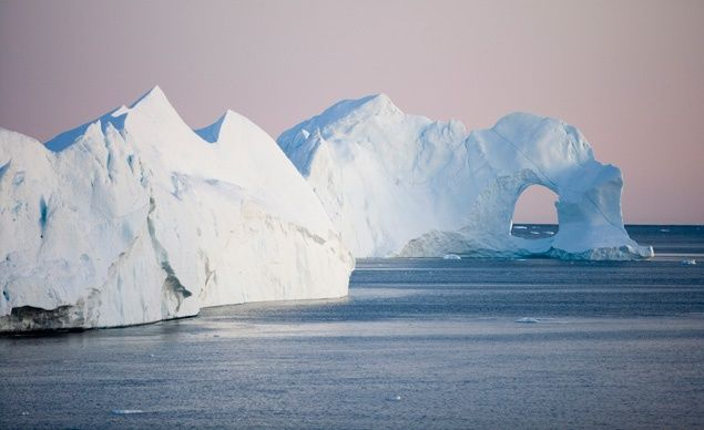 Every day some 20 million tons of ice break off of the Sermeq Kujalleq glacier in Greenland. (Holger Leue / SuperStock)