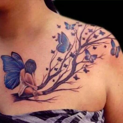 I like the tattoo just don't like the placement. Its pretty big for a collar bone tattoo.