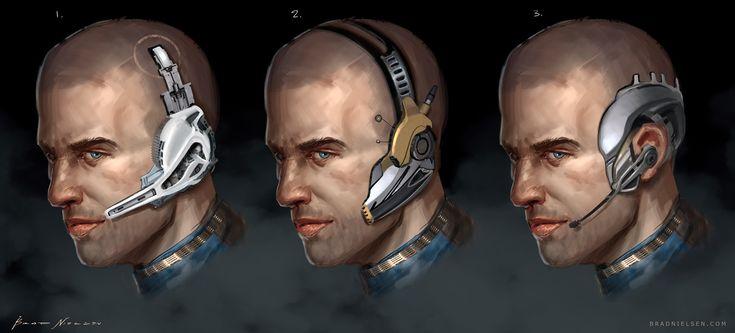 ArtStation - Sci-Fi Headset Design, Brad Nielsen
