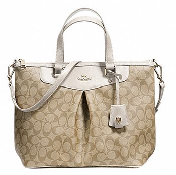 """#sweepstakes  http://www.planetgoldilocks.com/USA_and_Canadian_sweepstakes.htm Just Free Stuff Coach Canvas Tote #Giveaway - Signature canvas with leather trim - Inside zip, cell phone and multifunction pockets - Zip closure, fabric lining - Handles with 5"""" drop - 14"""" (L) x 10"""" (H) x 6"""" (W) - ARV: $395  One Time Entry. Expires June 30, 2015. . #fashiongiveaway #contests  #purses"""