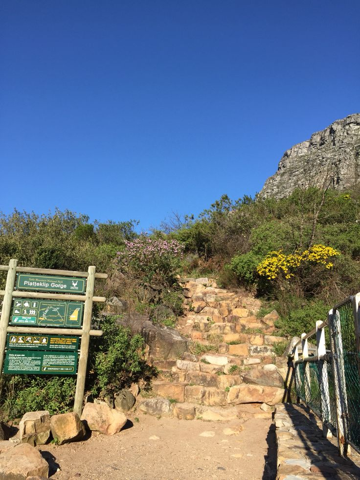 Platteklip Gorge, hiking path at Table Mountain, Cape Town! It was tough, but felt so good afterwards