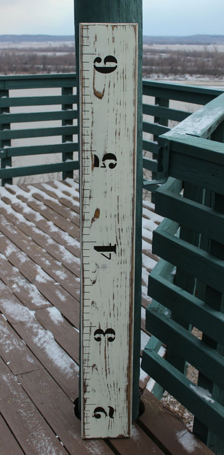 Wooden Growth Chart Ruler - Weathered. $64.00, via Etsy.