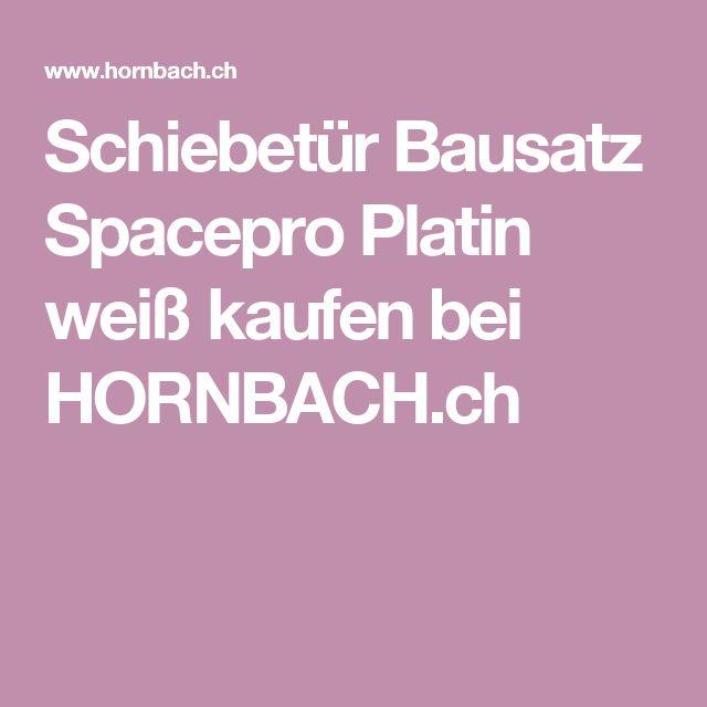 Schiebetür Bausatz Spacepro Platin weiß kaufen bei HORNBACH.ch
