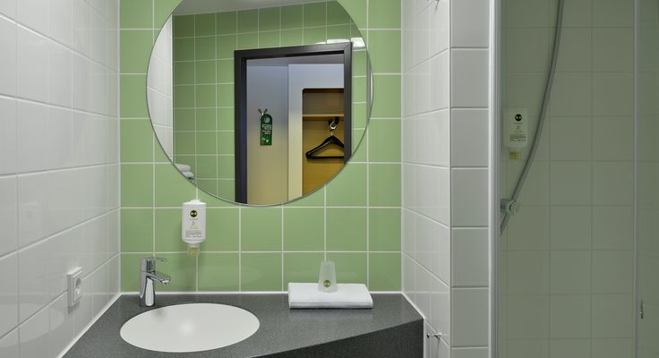 Badezimmer im B&B Hotel Osnabrück