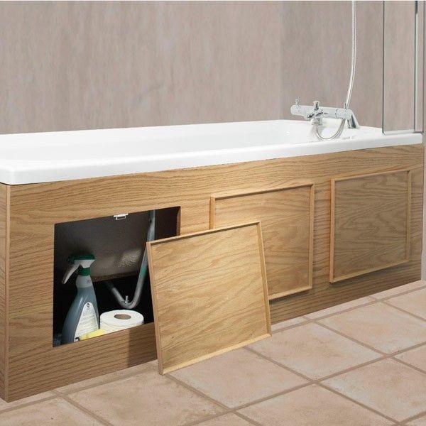Экраны под ванной для хранения различных мелочей