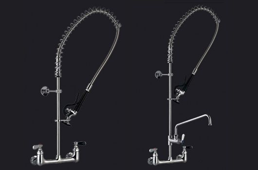 Wall mounted pre-rinse units.  Model: WM-200. Deck mount model also available.