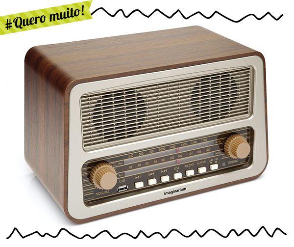 Quero muito: rádio amplificador retrô!