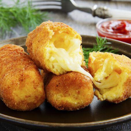 Köstlich gefüllte KROKETTEN mit zart schmelzendem MOZZARELLA - als Beilage oder Snack!
