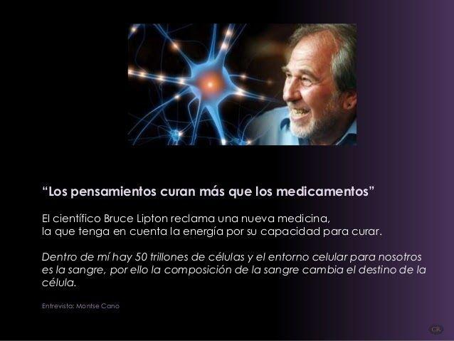 Bruce Lipton reclama una nueva medicina, la que tenga en cuenta la energía por su capacidad para curar.     Entrevista Montse Cano.     ...