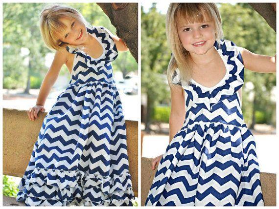 Toddler Chevron Print Maxi Dress // Chevron by AdalynsBoutique