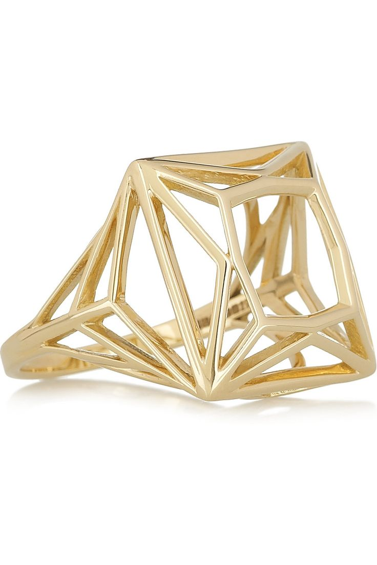 Solange Azagury-Partridge  Offering Skeleton 18-karat gold ring. If I were a millionaire, I would probably one one or two of these.