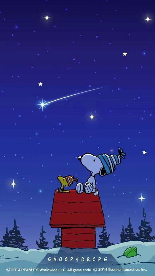 Watching the night sky with a friend. #snoopy #woodstock
