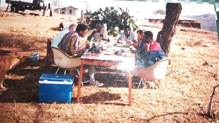 Lunch at Longido Ruby Zoisite Mine Northern Tanzania