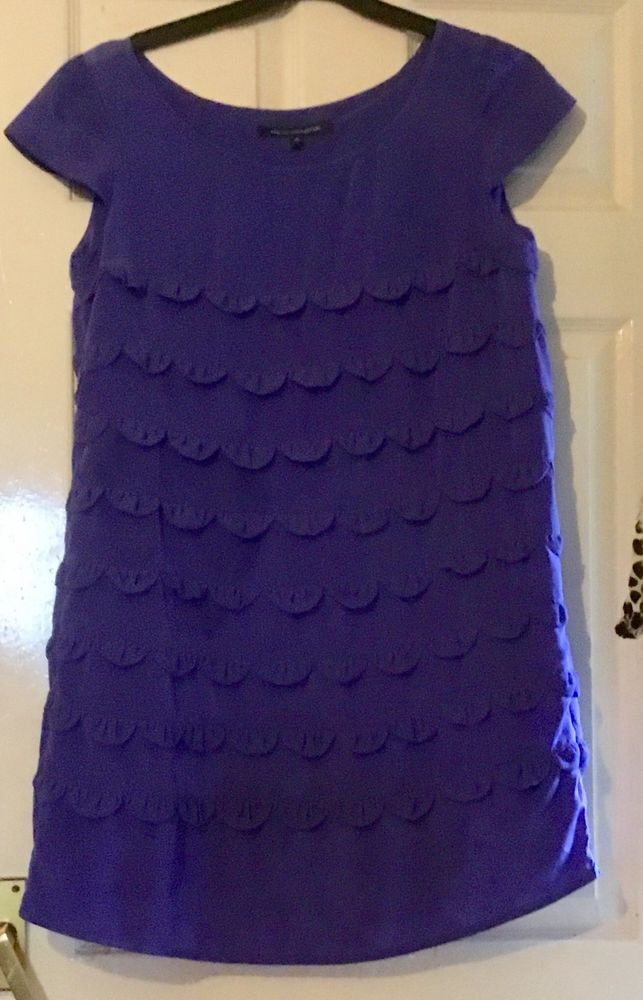5fa1e85f4716 Gorgeous Purple Textured Lined Dress By FRENCH CONNECTION Size 14 #fashion  #clothing #shoes #accessories #womensclothing #dresses (ebay link)