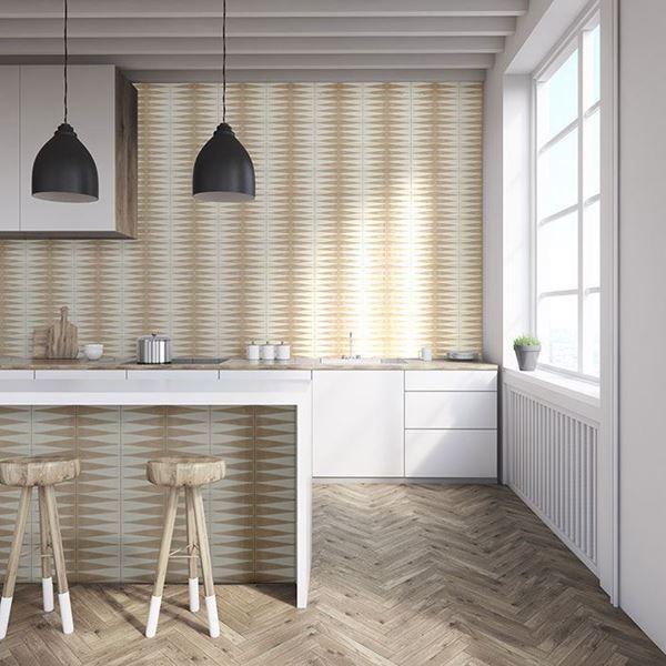 Beige Gammon Handmade Encaustic Cement Floor Tile   Otto Tiles & Design   Encaustic, Moroccan ...