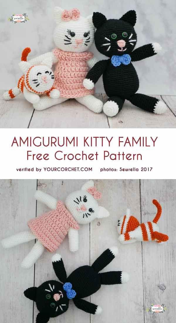 Amigurumi Kitty Family Free Crochet Pattern Amigurumi Pinterest
