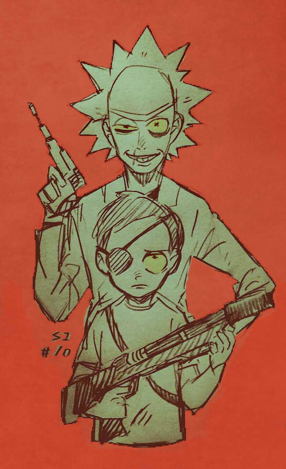 Rick and Morty,Рик и Морти, рик и морти, ,фэндомы,Rick and Morty персонажи,Evil Rick,Злой Рик,Evil Morty,Злой Морти,Rick and Morty art