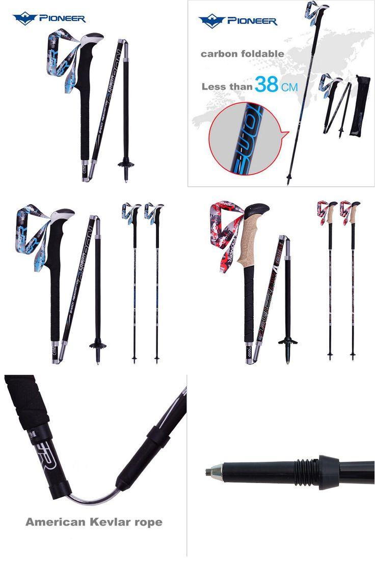 [Visit to Buy] Pioneer Hiking Pole Trekking Sticks Climbing Walking Trekking Poles Carbon Fiber Folding Nordic Walking Sticks Camping Cane #Advertisement