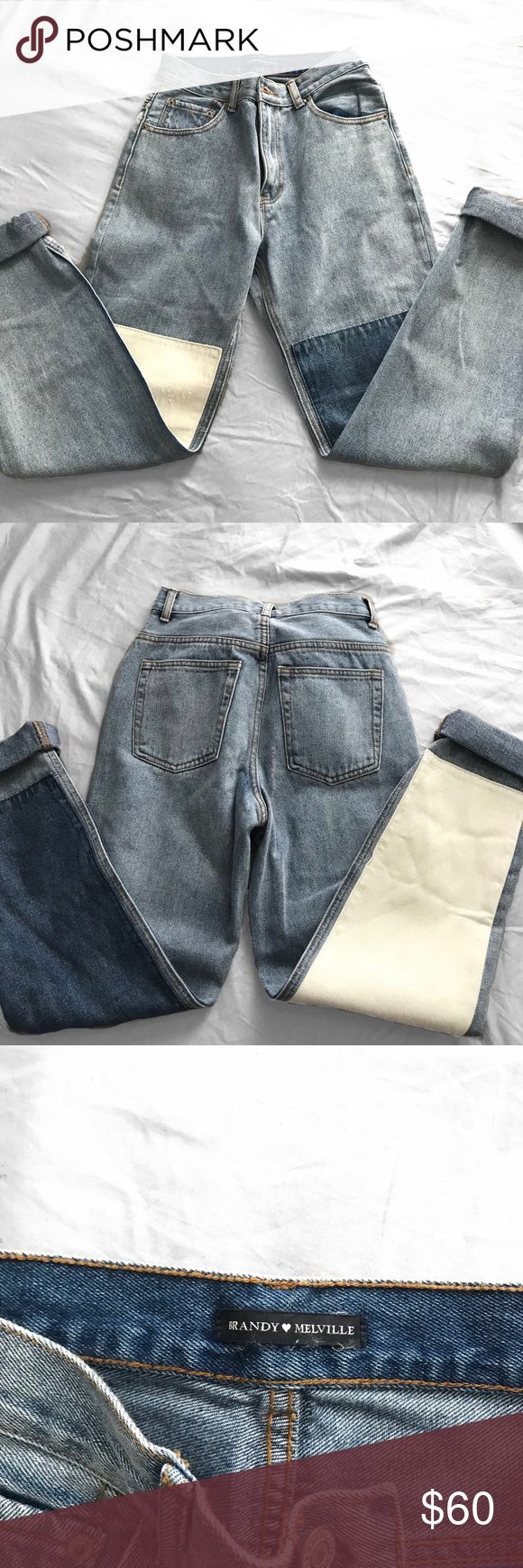 Brandy Melville Kenzo Denim Jeans RARE NWOT Brandy Melville Kenzo Denim Jeans!! These are a superrr rare pair of jeans and are no long sold in stores or online! They're a size small and according to Brandy should fit a 24-26 waist. There's a bit of a pilling/ripping effect on the white leg patch and a fold over on the blue leg patch but this is how the jeans came! it has nothing to do with them being damaged. Like i said these jeans are really hard to find so get yours while you still can…