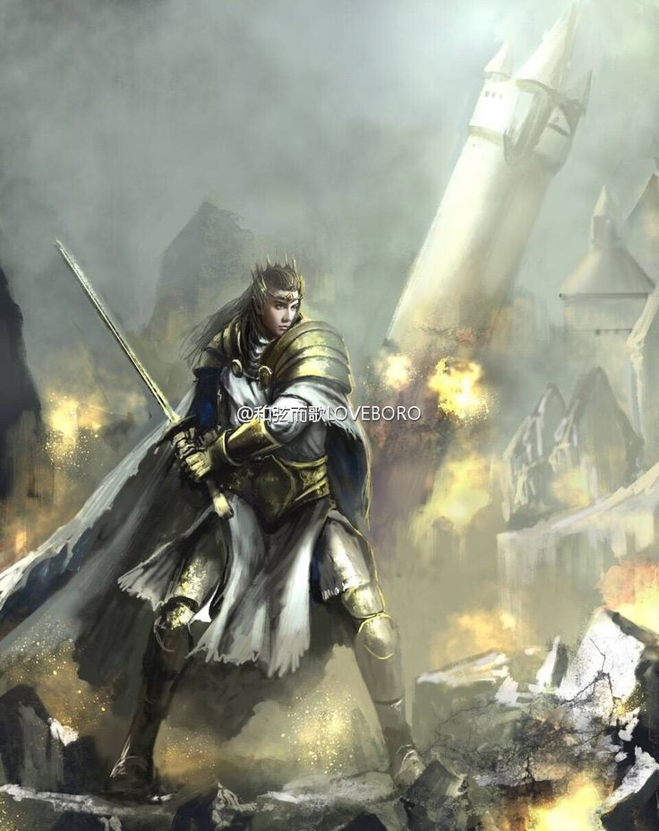 Turgon at the Fall of Gondolin by Egalmoth