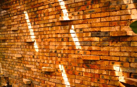lights on bricks