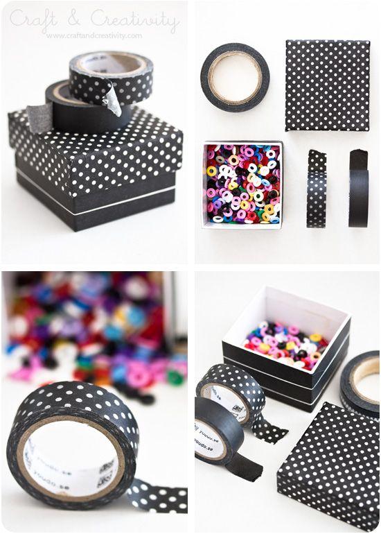 Washi taped boxes