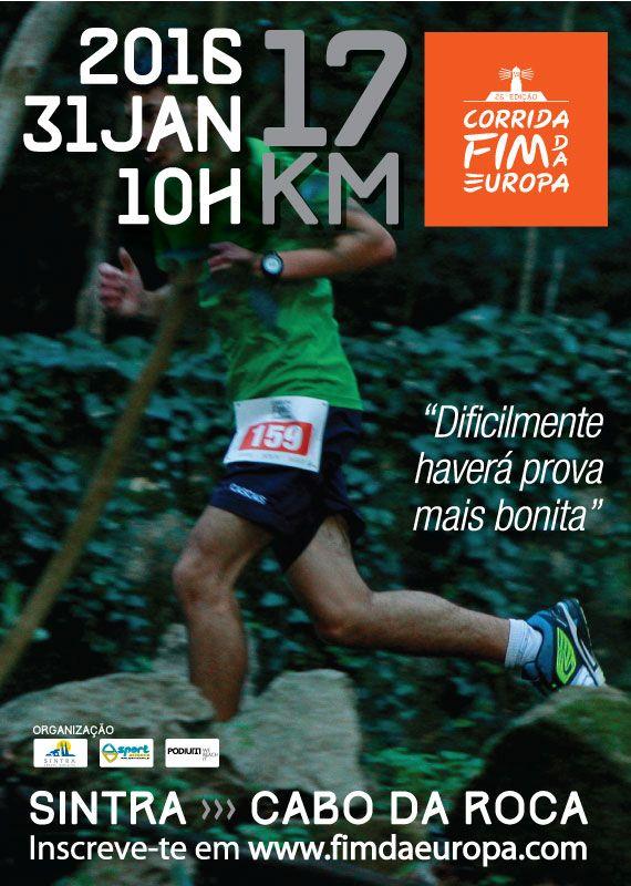 """A Câmara Municipal de Sintra em conjunto com a SportScience e a Podium vão realizar no dia 31 de janeiro de 2016, pelas 10 horas, o 26º Grande Prémio """"Fim"""